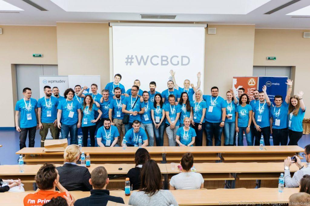 WordCamp Белград 2017, групповая фотография
